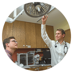 Doctor with a patient at Richfield Medical Group